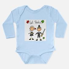 Pilgrims Thanksgiving Long Sleeve Infant Bodysuit