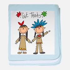 Native Americans Thanksgiving Infant Blanket