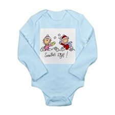 Snowball Fight Long Sleeve Infant Bodysuit