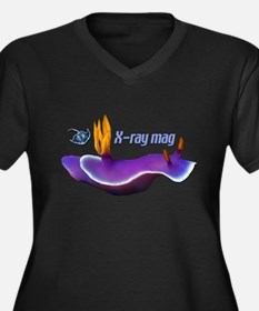X-RAY MAG Women's Plus Size V-Neck Dark T-Shirt