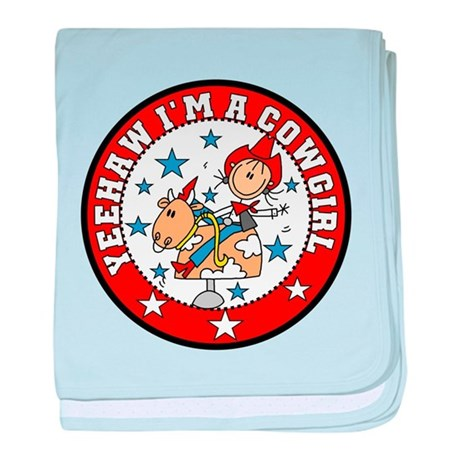 Yeehaw Cowgirl Infant Blanket
