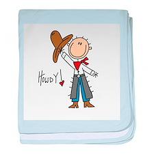 Cowboy Howdy Infant Blanket