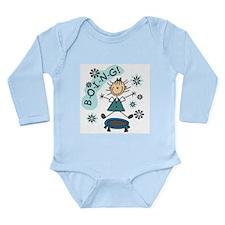 Girl on Trampoline Long Sleeve Infant Bodysuit
