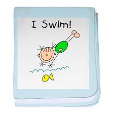 Girl I Swim Infant Blanket