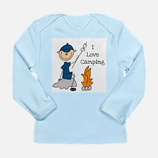 I Love Camping Long Sleeve Infant T-Shirt