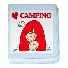 I Love Camping Infant Blanket