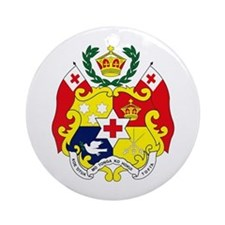 Tonga Coat of Arms Ornament (Round)