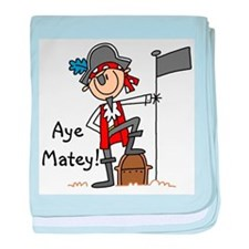 Aye Matey Pirate Infant Blanket