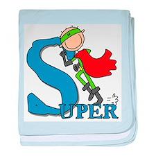 Super Stick Figure Hero Infant Blanket