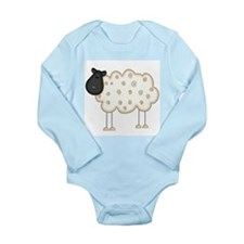 Stick Figure Sheep Long Sleeve Infant Bodysuit