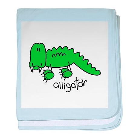Stick Figure Alligator Infant Blanket