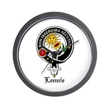 Lennie Clan Crest Badge Wall Clock