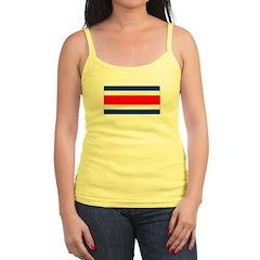 Costa Rica Flag Jr.Spaghetti Strap