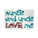 Auntie and Uncle Love Me Rectangle Magnet
