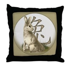 Chinese Year of the Rabbit Throw Pillow