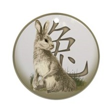 Chinese Year of the Rabbit Ornament (Round)
