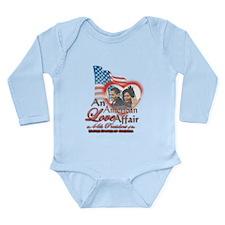 Cute Obama valentine Long Sleeve Infant Bodysuit