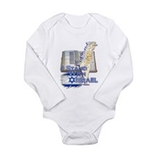 I Stand With Israel - Long Sleeve Infant Bodysuit