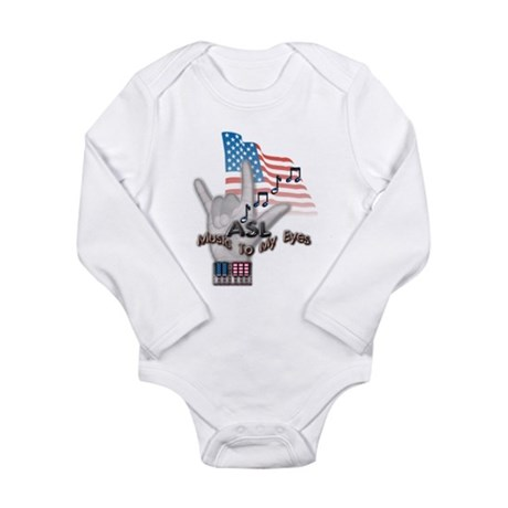 Music to my Eyes - Long Sleeve Infant Bodysuit