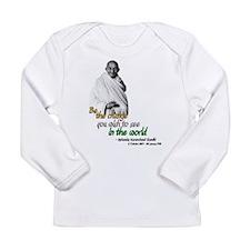 Cute Gandhi Long Sleeve Infant T-Shirt