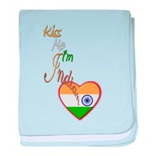 Kiss Me, I'm Indian - Infant Blanket