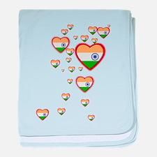 Hearts (Flag - India) - Infant Blanket