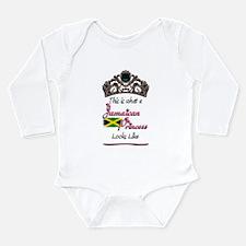 Jamaican Princess - Long Sleeve Infant Bodysuit