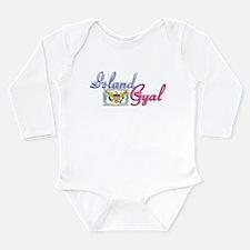USVI Island Gyal - Long Sleeve Infant Bodysuit
