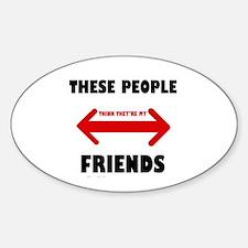 NOT FRIENDS Decal
