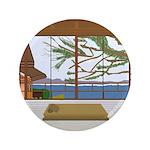 """3.5"""" Button - Window View Lake House"""