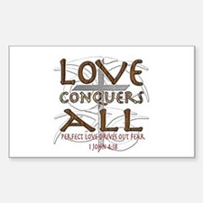 Love Conquers All Decal