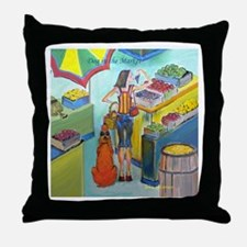 """""""Dog in the Market"""" Throw Pillow"""