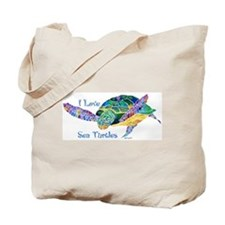 I Love Sea Turtles 2 Tote Bag
