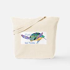Beautiful Graceful Sea Turtle Tote Bag