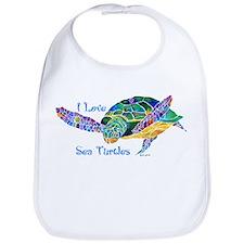 Beautiful Graceful Sea Turtle Bib