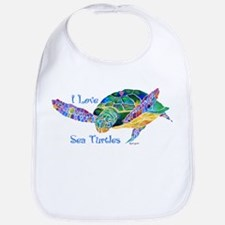 Beautiful Graceful Sea Turtle Bib