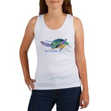Beautiful Graceful Sea Turtle Women's Tank Top