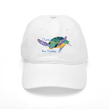 Beautiful Graceful Sea Turtle Cap