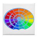 Blue Rainbow Tile Coaster
