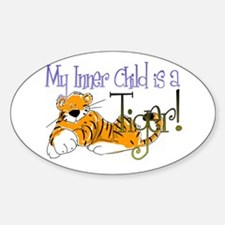 Tiger Inner Child Oval Decal
