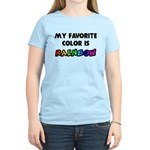 My favorite color is rainbow Women's Light T-Shirt