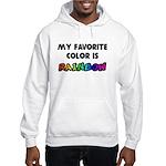 My favorite color is rainbow Hooded Sweatshirt