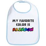 My favorite color is rainbow Bib