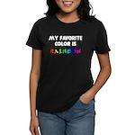 My favorite color is rainbow Women's Dark T-Shirt