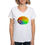 Green Rainbow Women's V-Neck T-Shirt