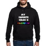 My favorite color is rainbow Hoodie (dark)