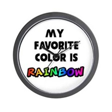 My favorite color is rainbow Wall Clock