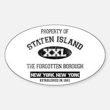 Property of Staten Island Sticker (Oval)