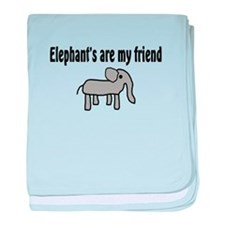 Elephants are my Friends Infant Blanket
