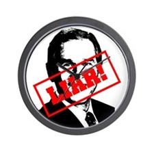 Bush - Liar - Worst President Ever Wall Clock